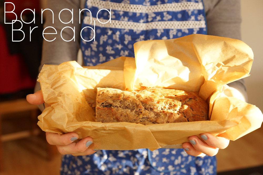 How to make vegan banana bread, sugarfree and glutenfree