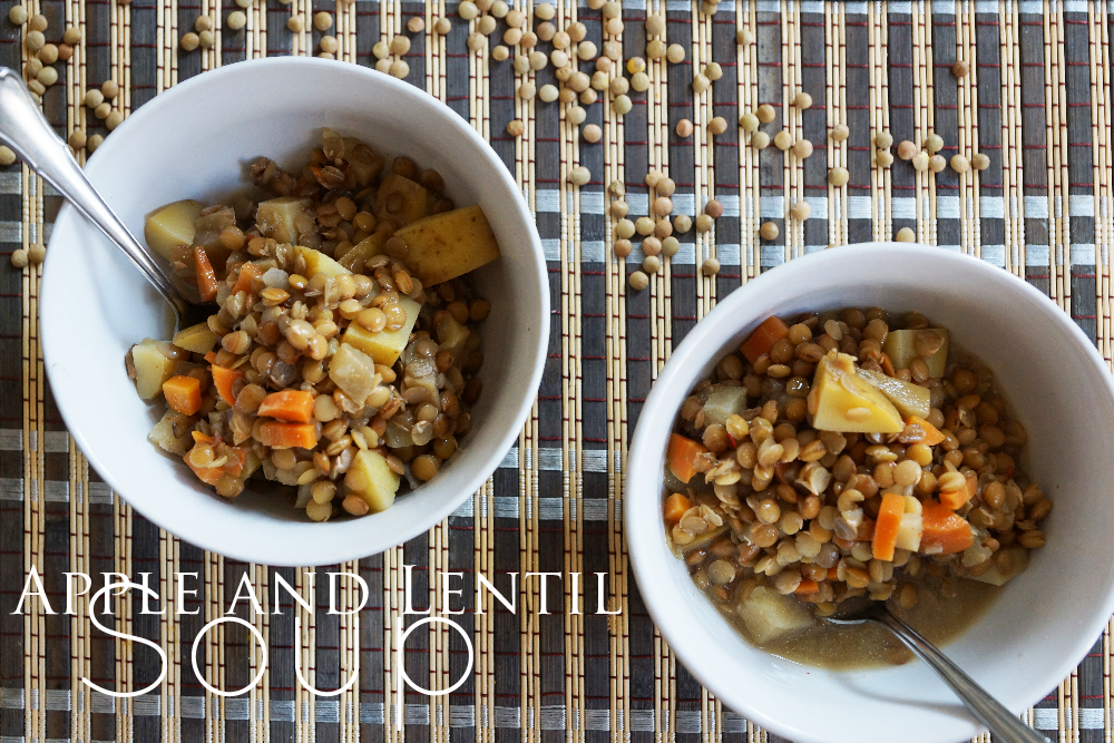 Vegan Apple and Lentil Soup | Veganer Linseneintopf