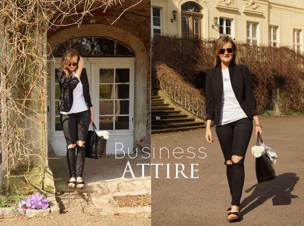 { Zara Blazer & Bag | LeBoer Shirt | H&M Sunnies & (customized) Pants | Birkenstock Sandals}