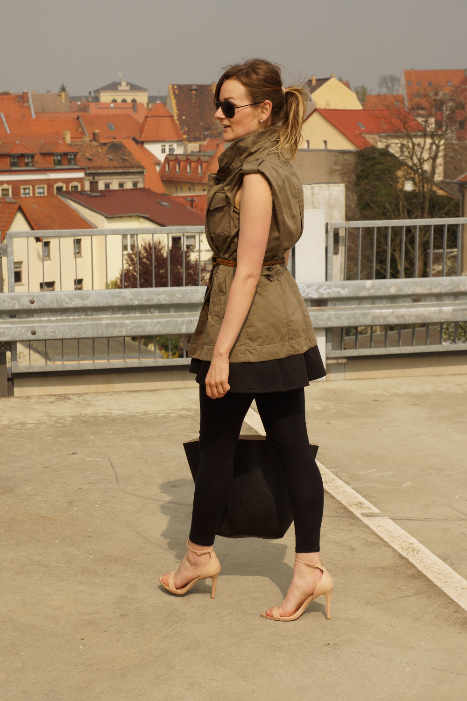 LBD + Khaki Vest