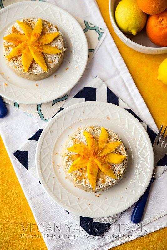 veganyackattack - raw mango banana cake