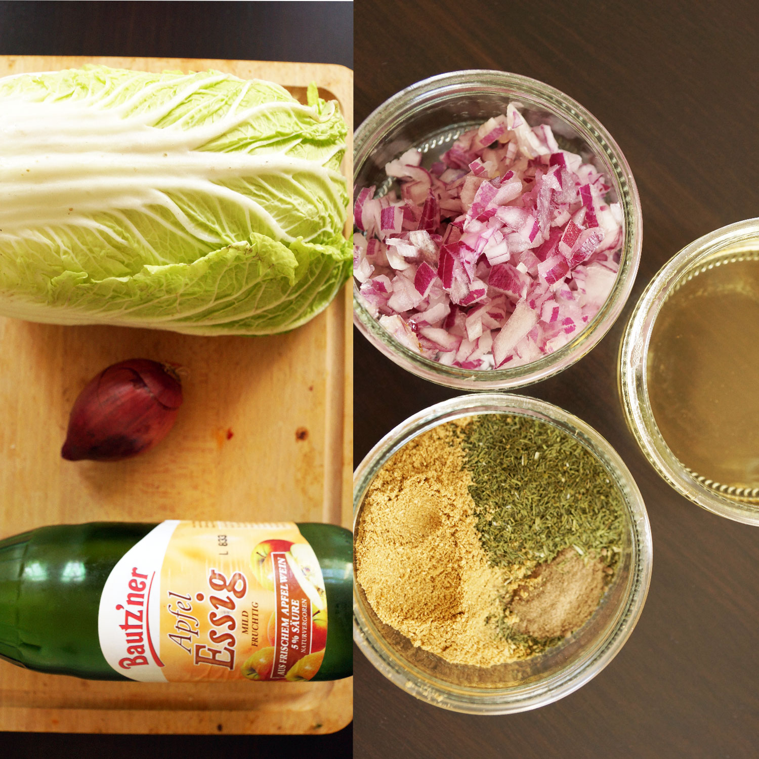 Chinese Cabbage and Dill Salad (super rich in Vitamin C)