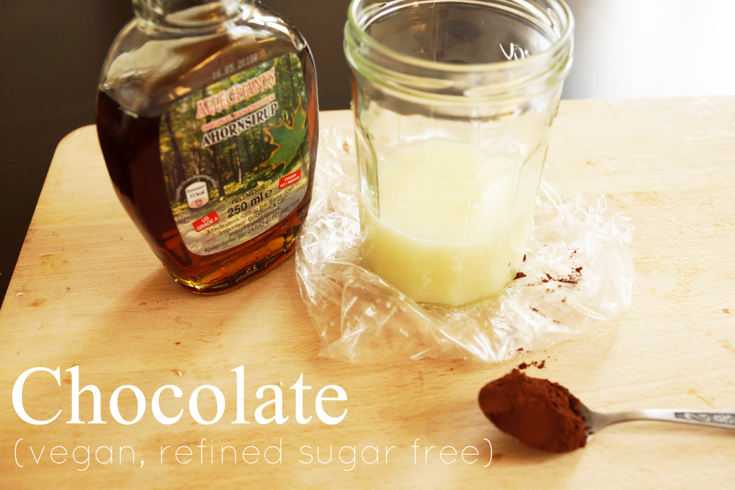 diy vegan sugar free chocolate | diy vegane, zuckerfreie Schokolade