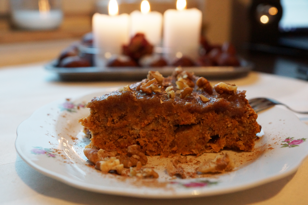 Apple Carrot Cake with Date Frosting
