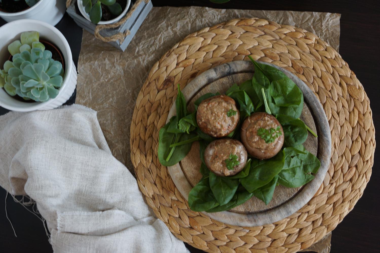 Gefüllte champignons vegan