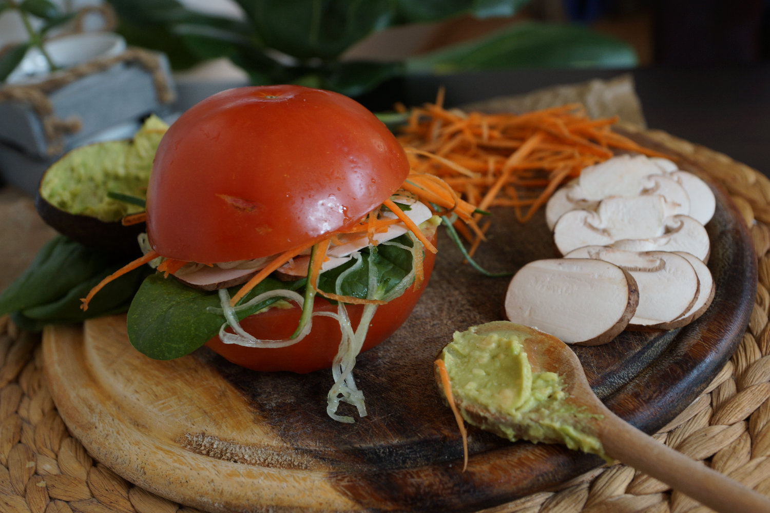 Raw vegan burger | Rohkost Burger