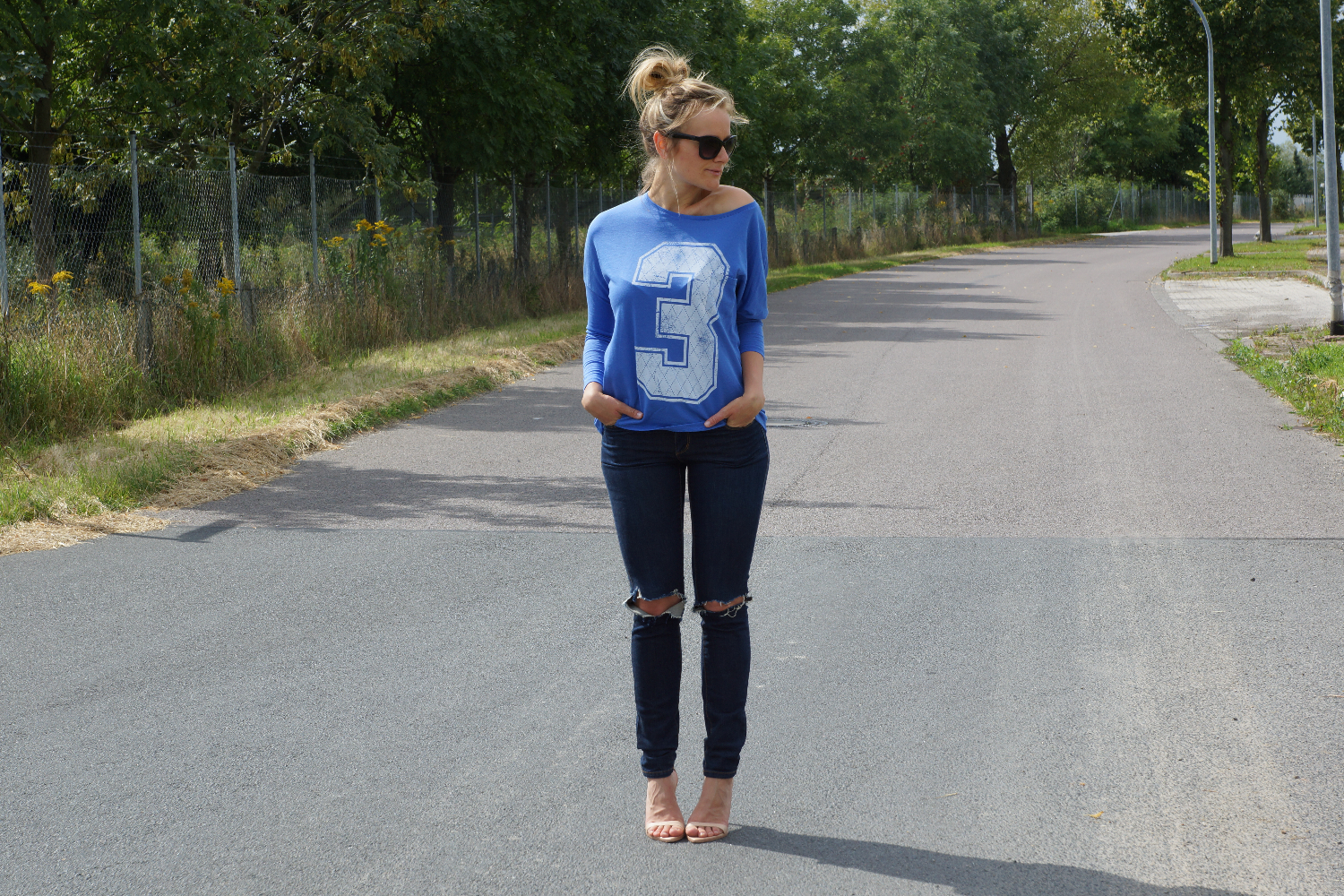 Number Shirt | High Bun