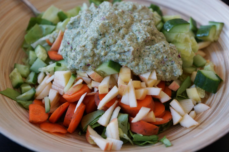 Five Ingredient Zucchini Salad Dressing