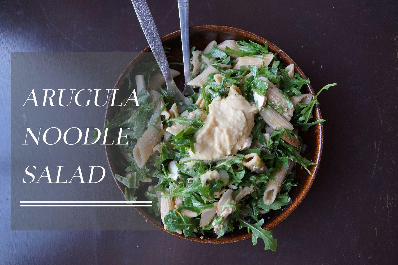 Arugula Noodle Salad // Rucola Nudel Salat (vegan, gluten free, glutenfrei)